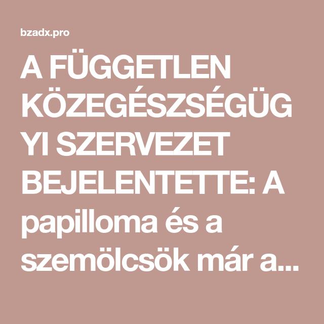 papillomavírus ember szemölcsök)