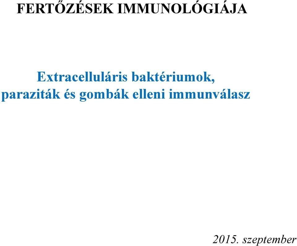 paraziták elleni adaptív immunválasz