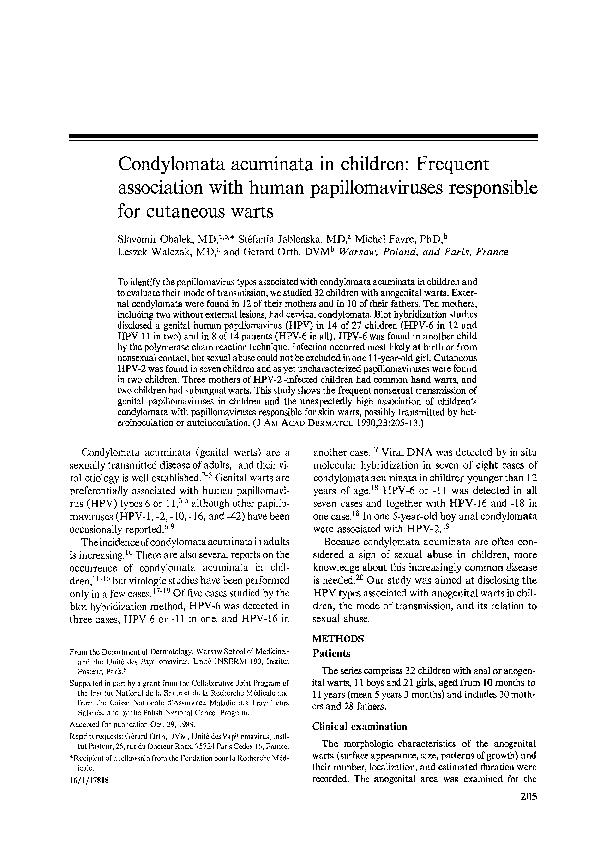 condylo papilloma)