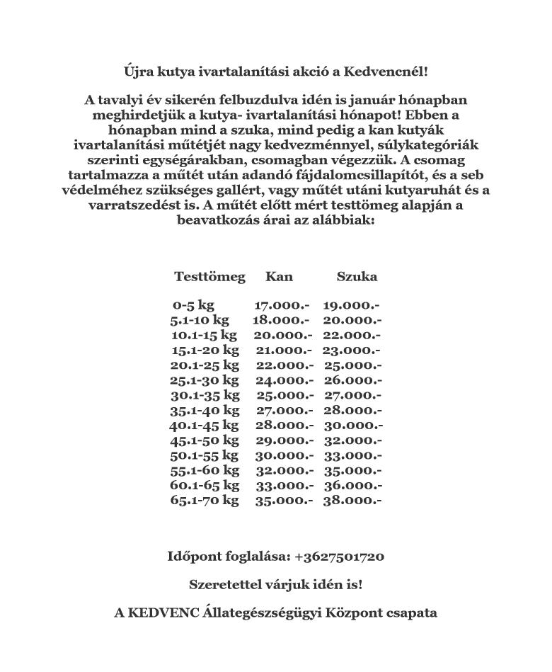 állatorvosi összefoglaló)